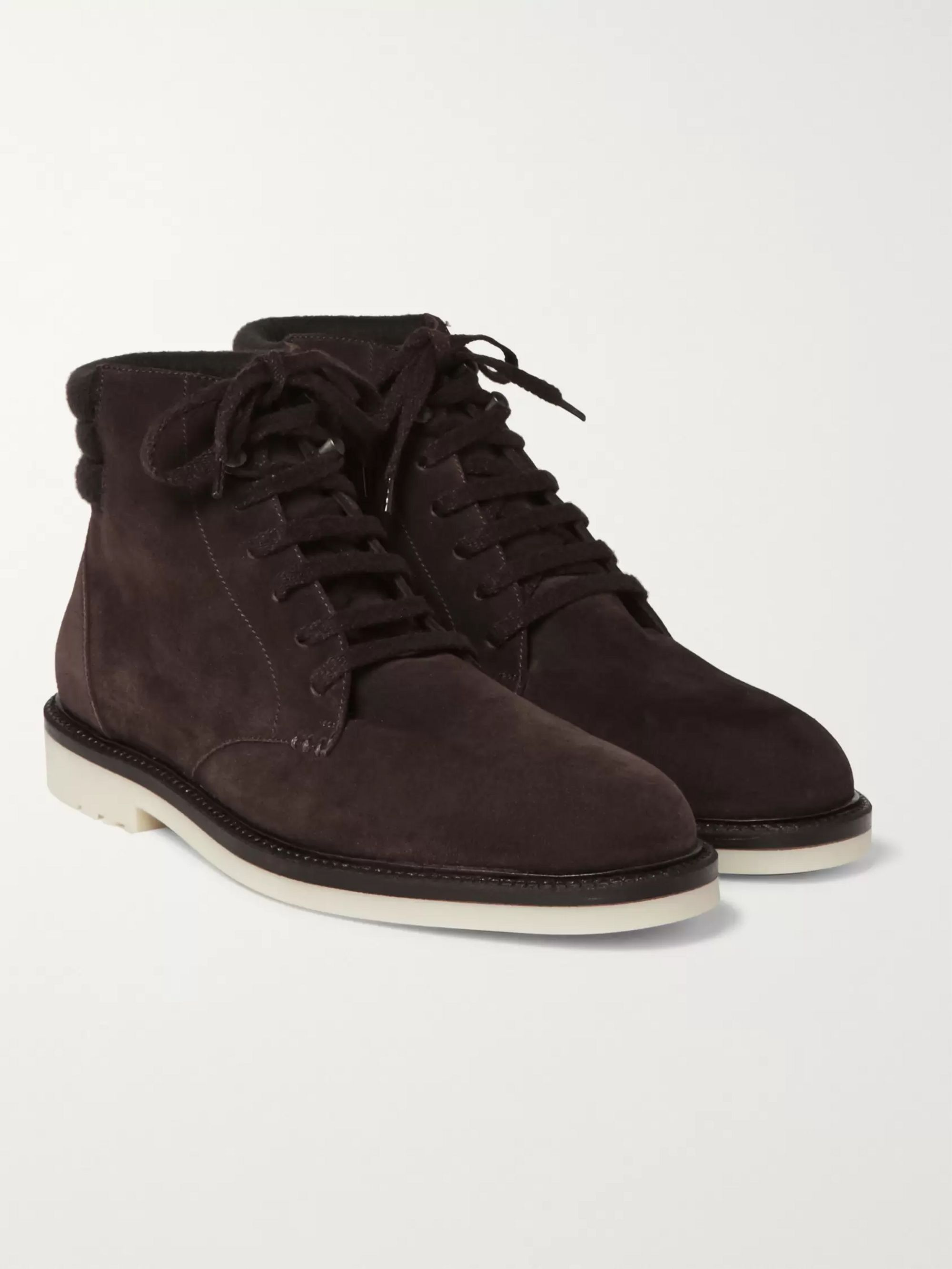 Loro Piana Icer Walk Cashmere-Lined Water-Repellent Suede Boots