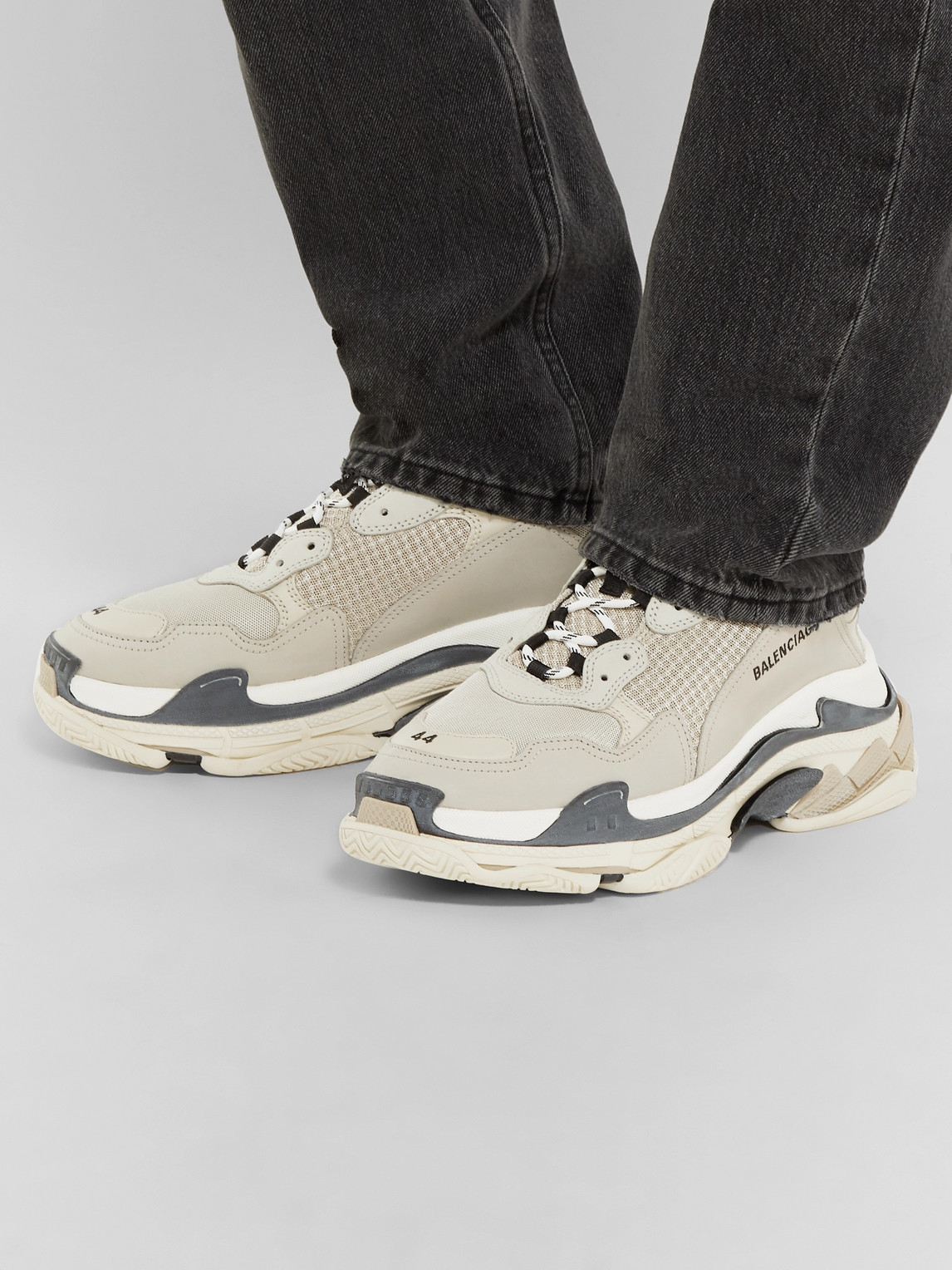 Balenciaga Sneakers TRIPLE S MESH, NUBUCK AND LEATHER SNEAKERS