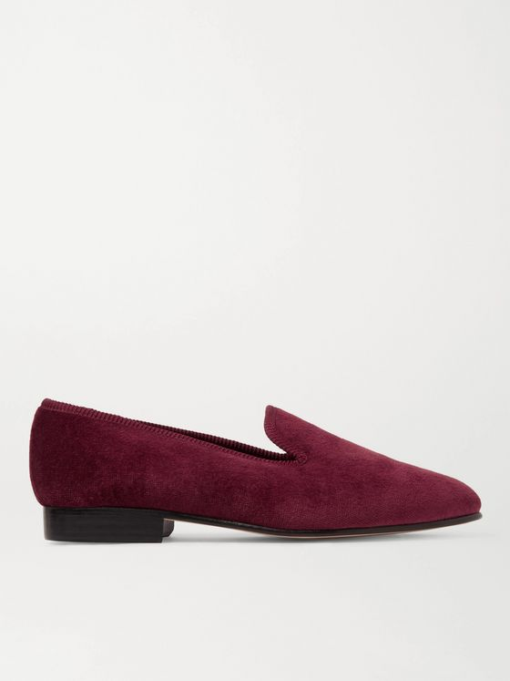 George Cleverley Albert Velvet Slippers