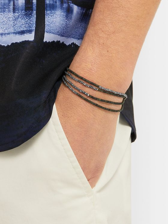 M.Cohen Sterling Silver and Beaded Wrap Bracelet