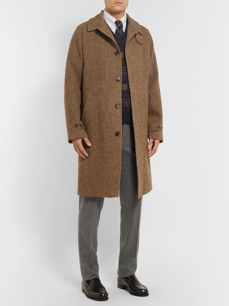 Polo Ralph Lauren Herringbone Wool Overcoat