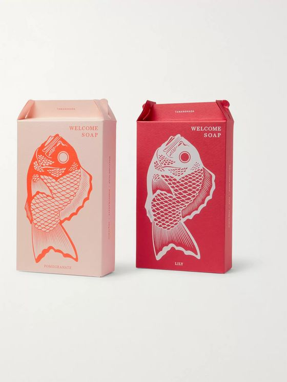 Japan Best Two-Pack Fish-Shaped Scented Soap, 345g