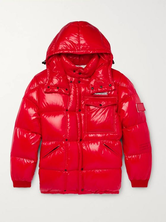 Moncler Genius 7 Moncler Fragment Anthem Quilted Shell Hooded Down Jacket