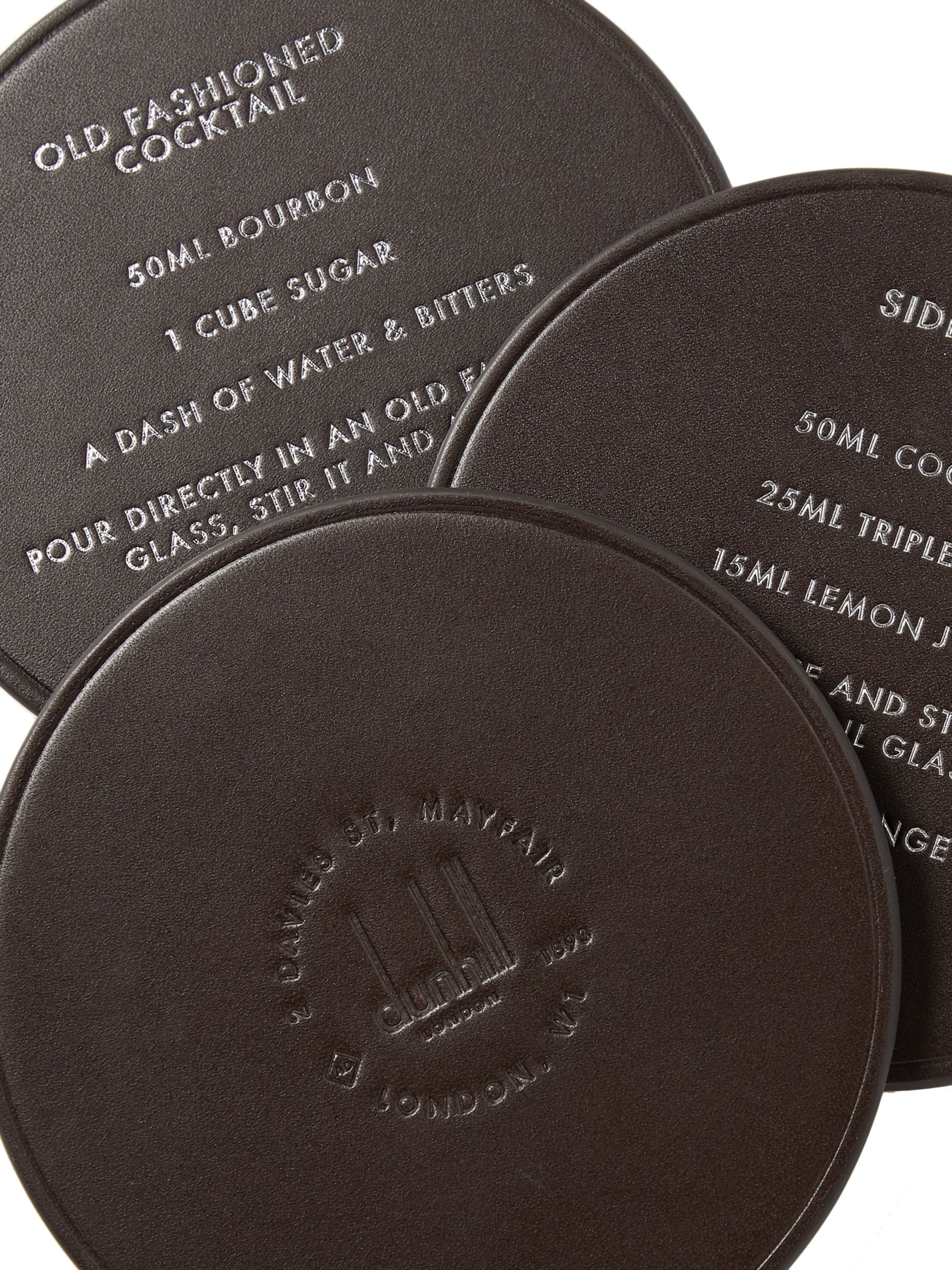 Dunhill Boston Set of Six Leather Coasters