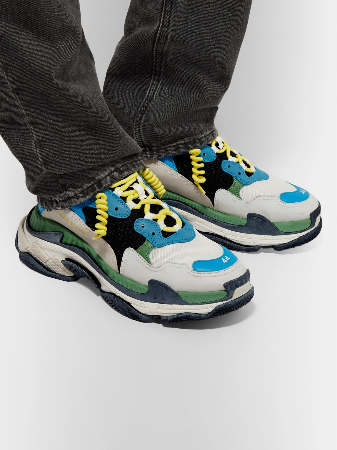 Balenciaga Sneakers TRIPLE S MESH, LEATHER AND SUEDE SNEAKERS