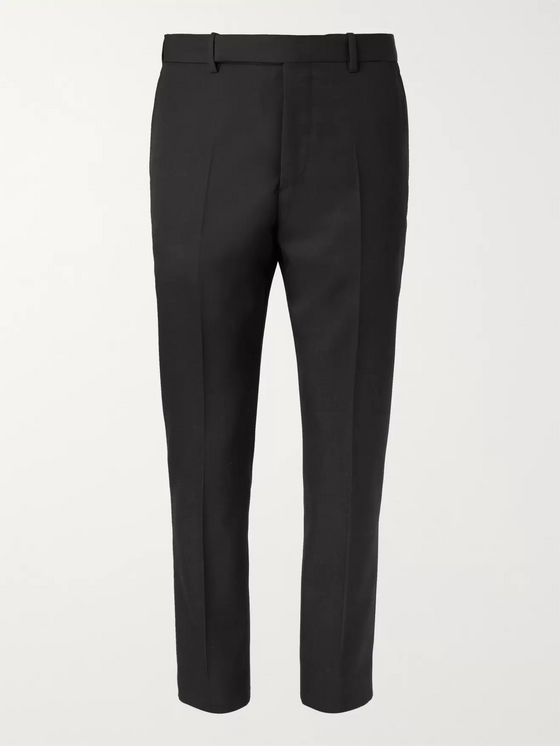 Berluti Black Slim-Fit Wool-Twill Suit Trousers