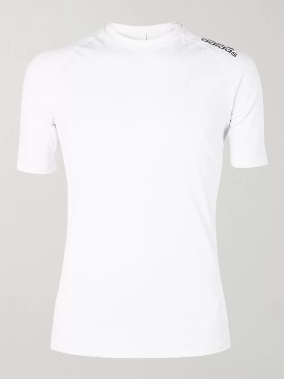 Adidas Sport Alphaskin Tech Mesh-Panelled T-Shirt