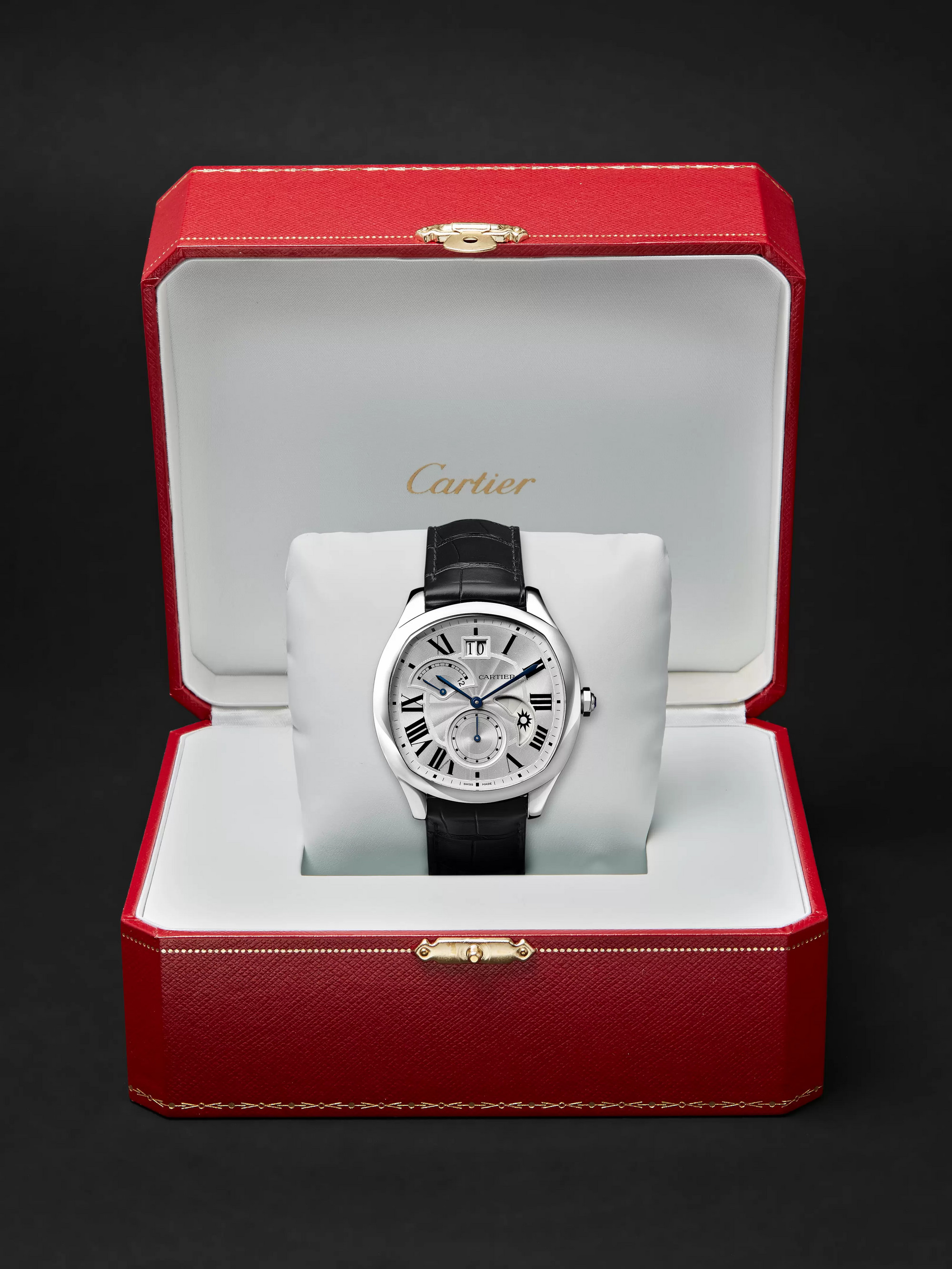 Cartier Drive de Cartier Automatic 40mm Steel and Alligator Watch, Ref. No. CRWSNM0005