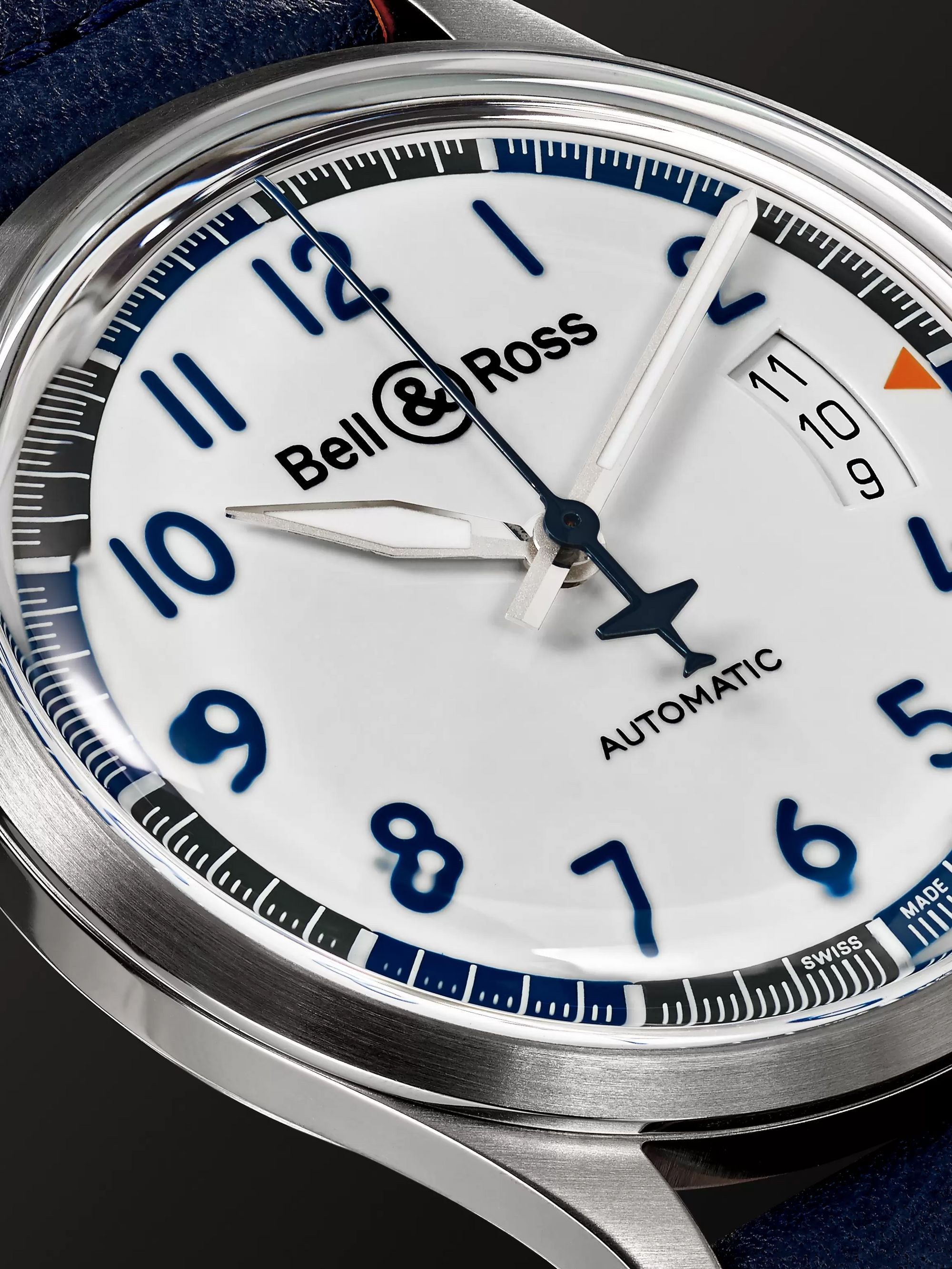 Bell & Ross BR V1-92 Racing Bird Limited Edition Automatic 38.5mm Stainless Steel and Leather Watch