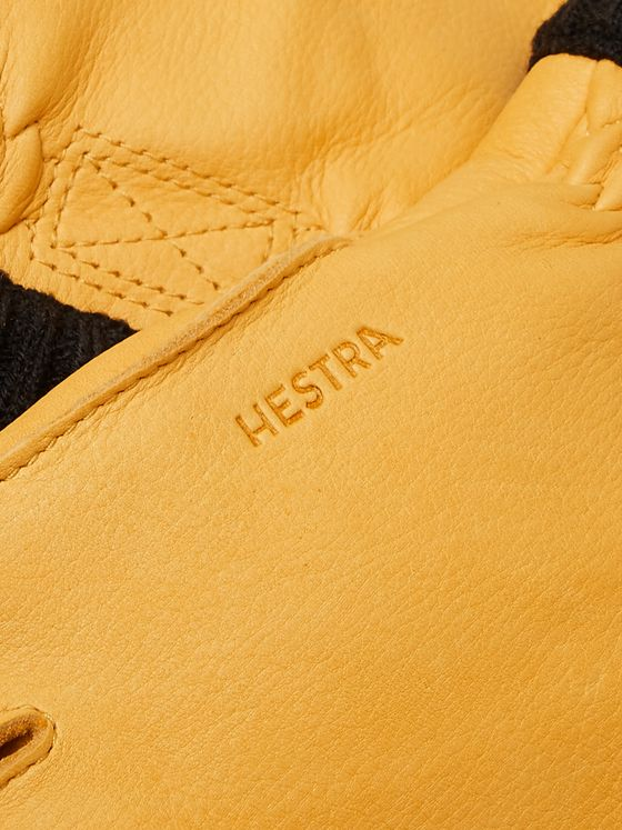 Hestra Fleece-Lined Full-Grain Leather Gloves