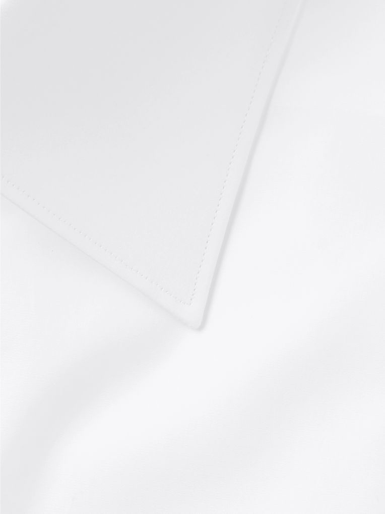 Brioni White Slim-Fit Cotton-Poplin Shirt