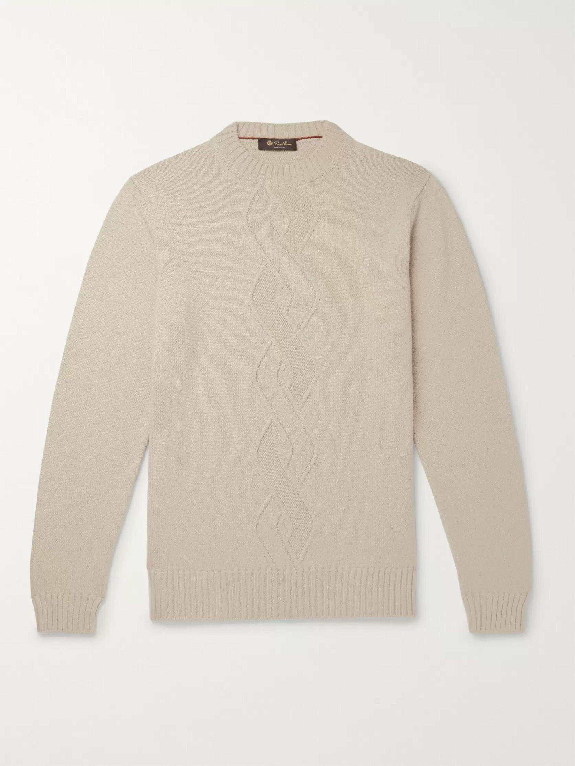 da44eb7296 Cable-Knit Cashmere, Silk and Cotton-Blend Sweater