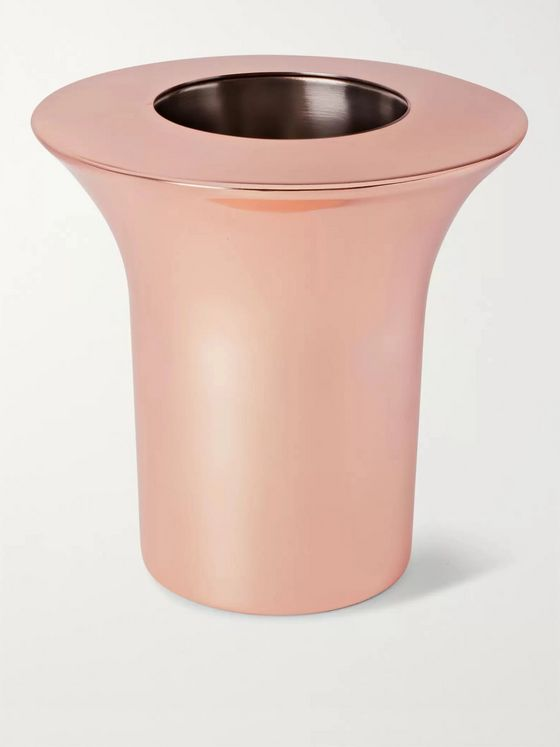 Tom Dixon Plum Copper-Plated Wine Cooler