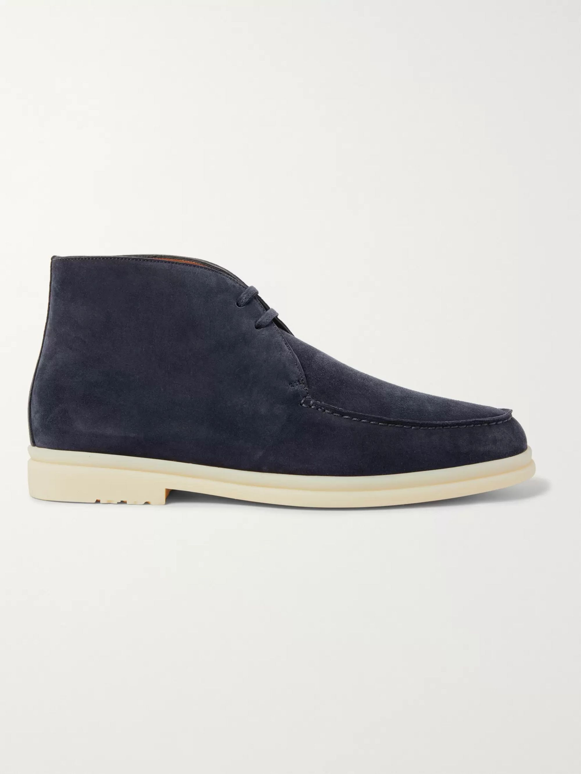 Loro Piana Walk and Walk Suede Chukka Boots