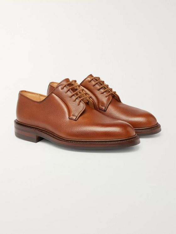 George Cleverley Archie Horween Shell Cordovan Leather Derby Shoes