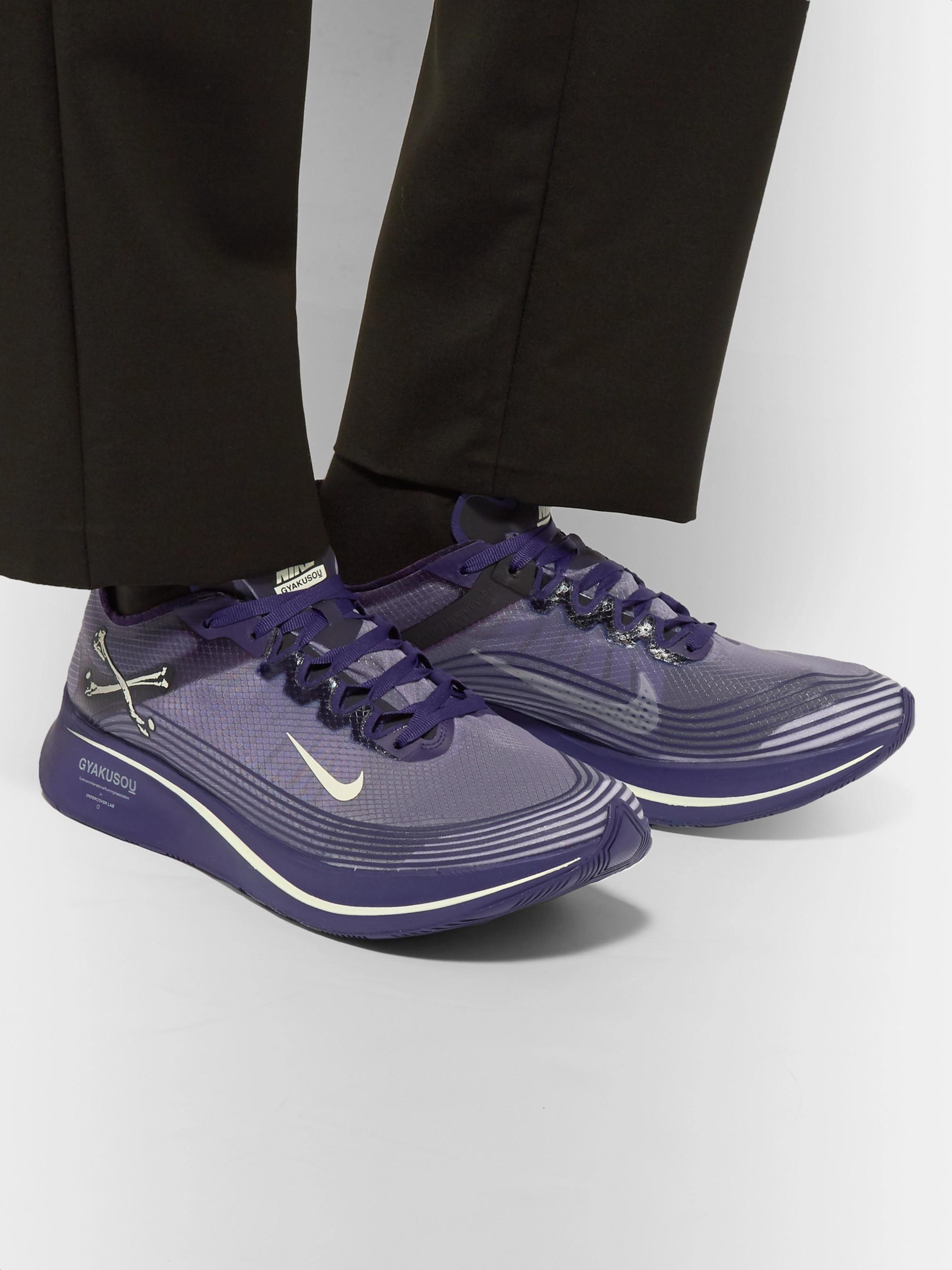 38c12ee9 Purple + GYAKUSOU Zoom Fly SP Ripstop Sneakers | Nike x Undercover ...