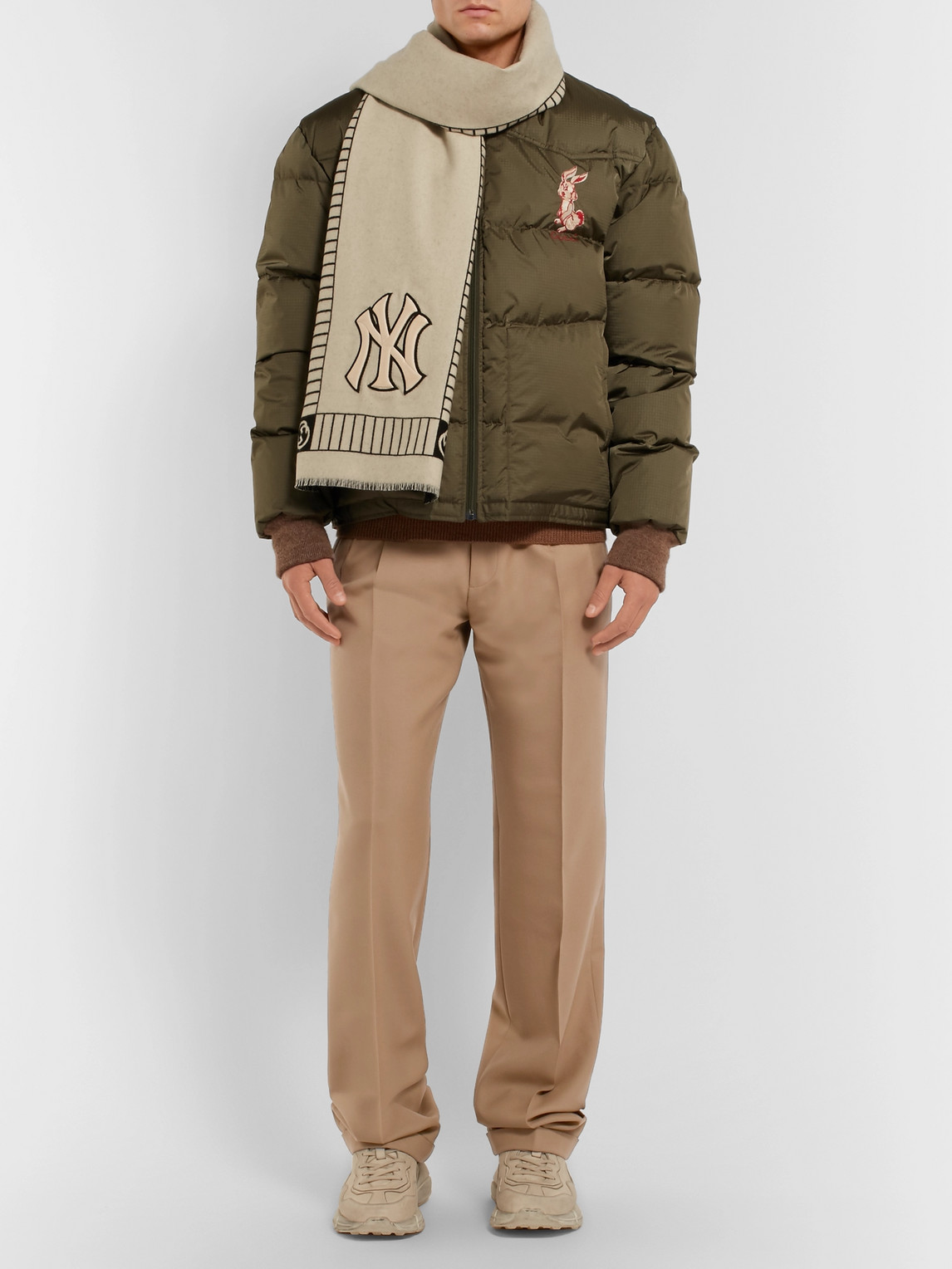 Gucci Pants PLEATED WOOL TROUSERS