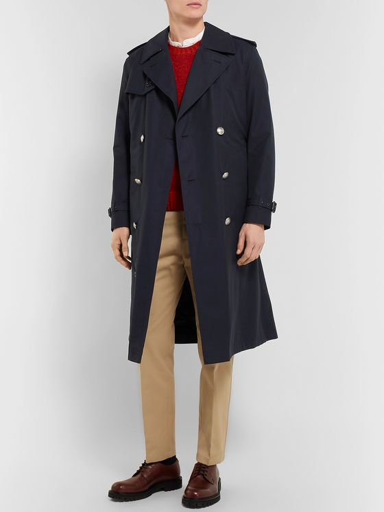Burberry Camborne Cotton-Gabardine Trench Coat With Detachable Liner