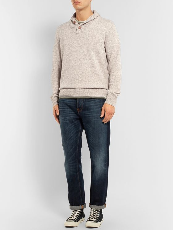 J.Crew Shawl-Collar Merino Wool-Blend Sweater