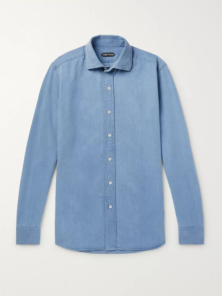 TOM FORD Slim-Fit Denim Shirt