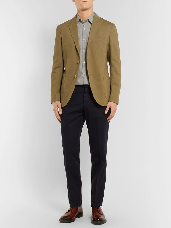 Canali Puppytooth Cotton Shirt