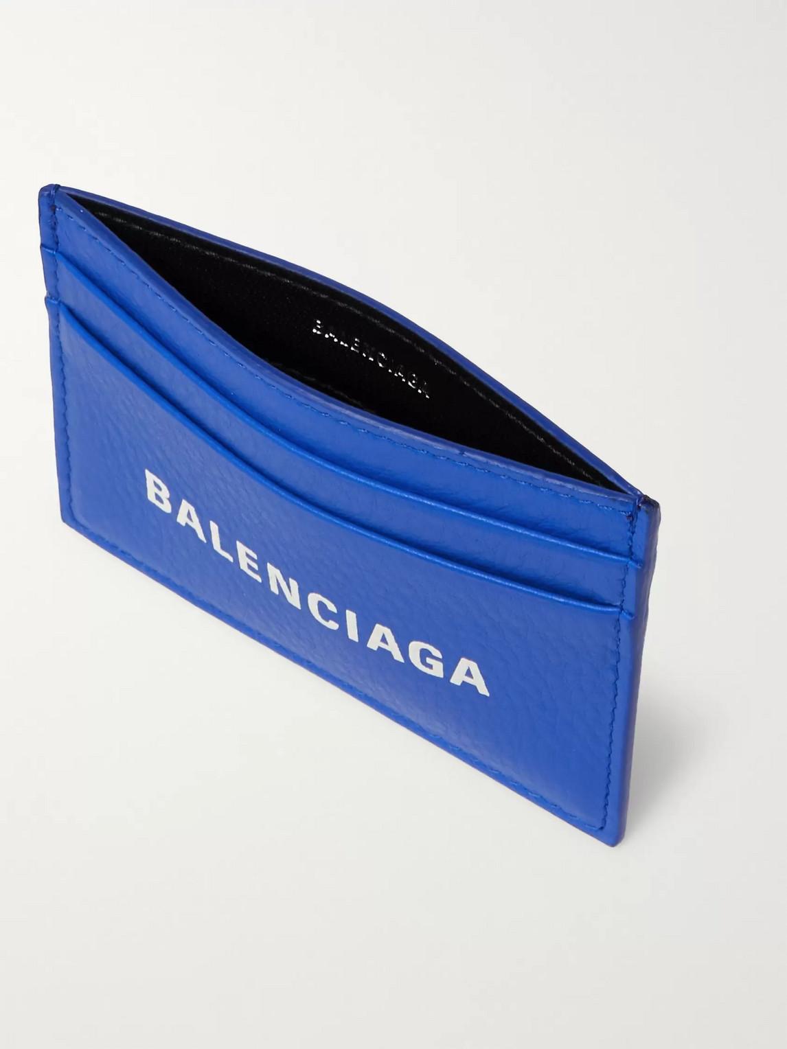 Balenciaga Accessories LOGO-PRINT FULL-GRAIN LEATHER CARDHOLDER