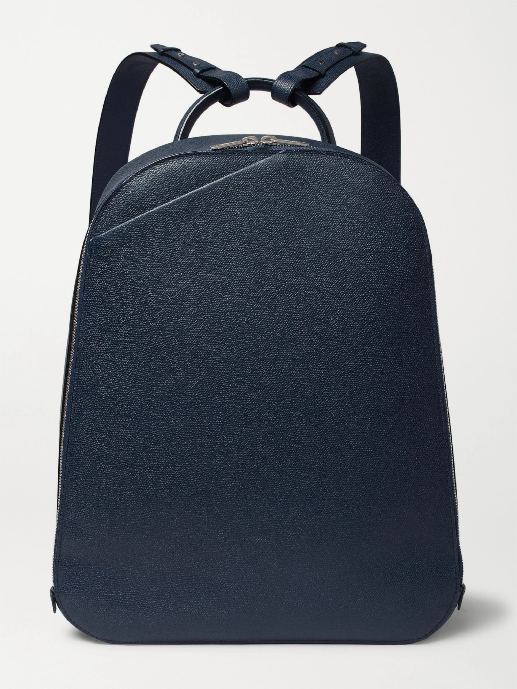 Valextra My Logo Pebble-Grain Leather Backpack