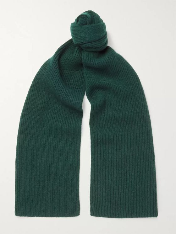 Anderson & Sheppard Ribbed Cashmere Scarf