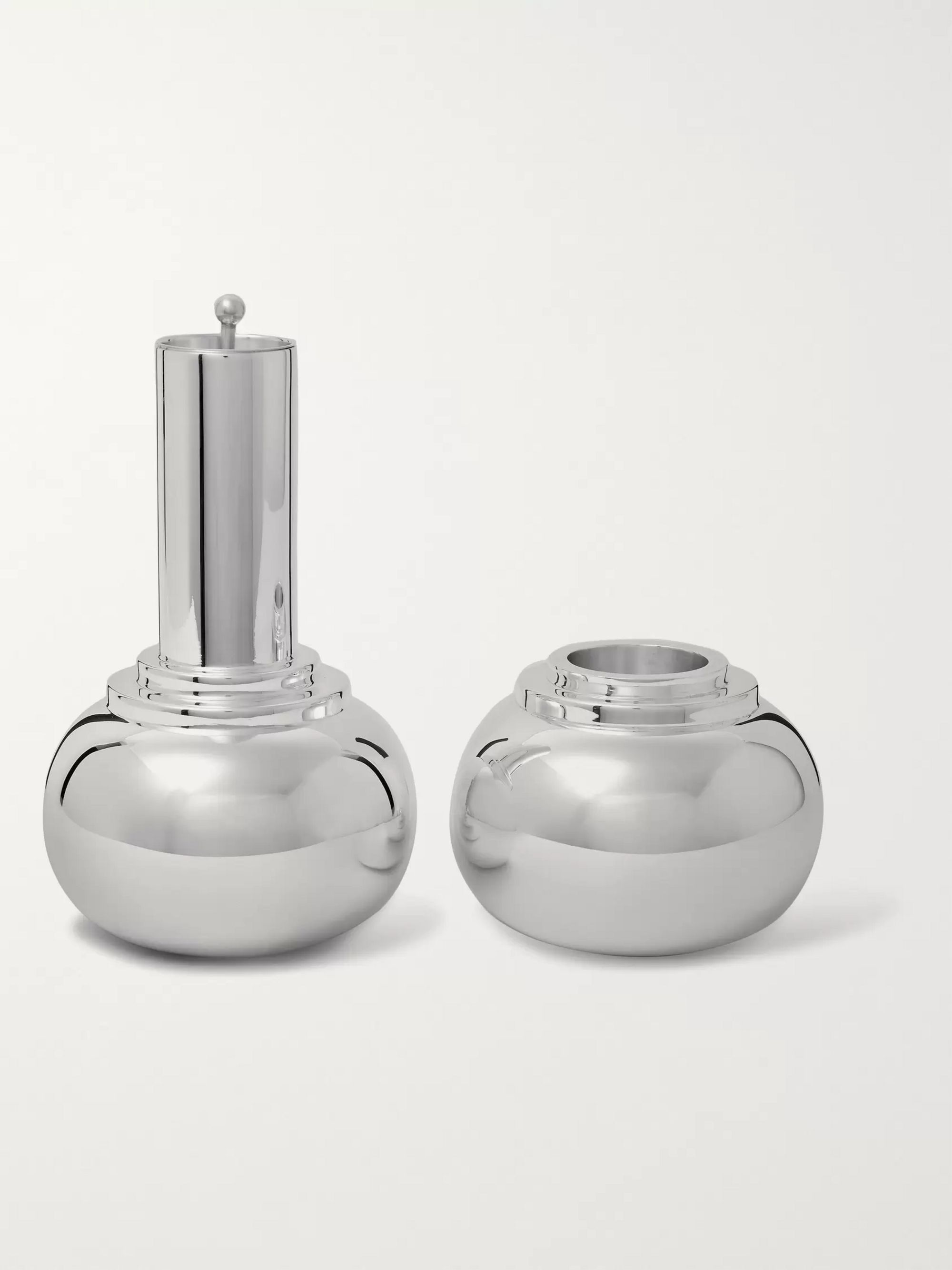 Asprey Dumbbell Sterling Silver Cocktail Shaker