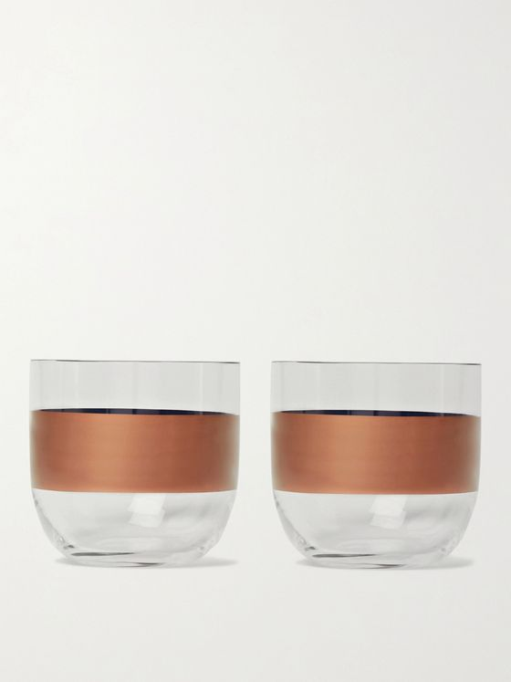 Tom Dixon Tank Set of Two Painted Whisky Glasses