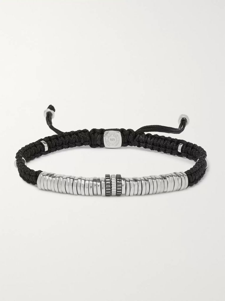TATEOSSIAN Macramé and Rhodium-Plated Bracelet