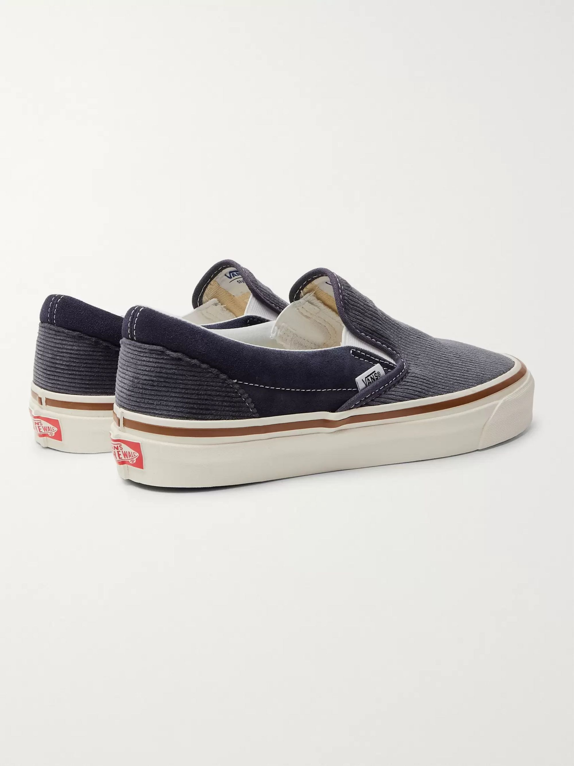 Vans OG 98 DX Cotton-Corduroy and Suede Slip-On Sneakers