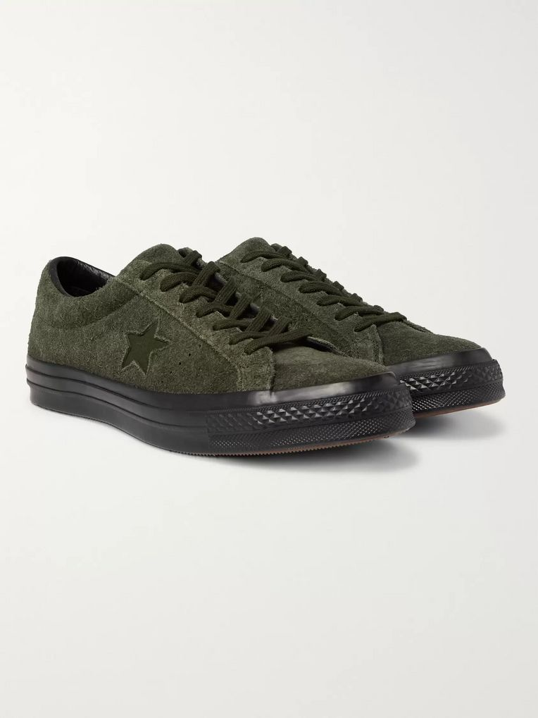 Converse One Star OX Brushed-Suede Sneakers