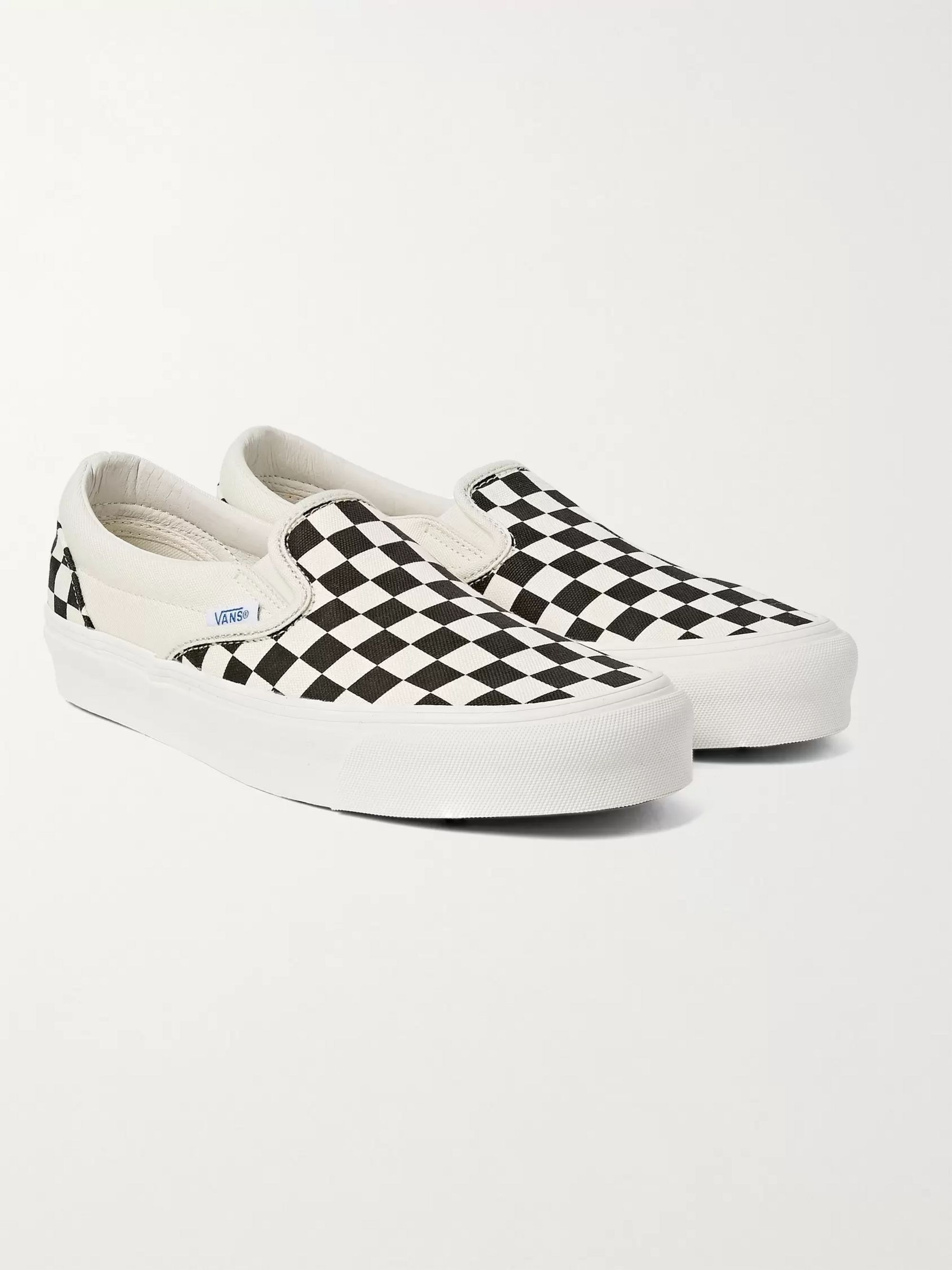 OG Classic LX Checkerboard Canvas Slip On Sneakers