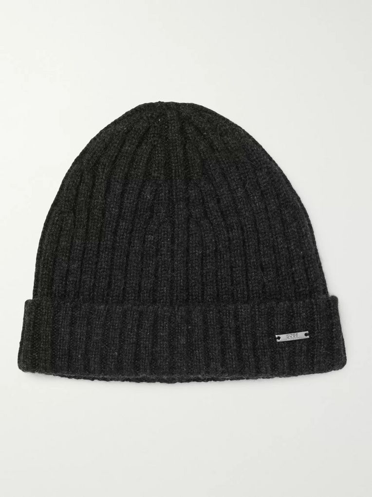 Hugo Boss Ribbed Cashmere Beanie