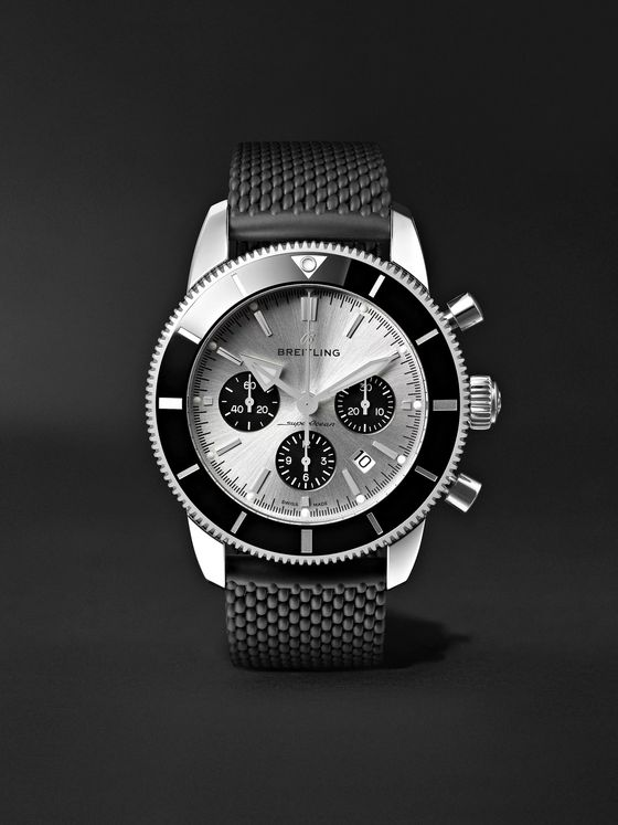 Breitling Superocean Héritage II B01 Automatic Chronograph 44mm Stainless Steel and Rubber Watch, Ref. No. AB0162121G1S1
