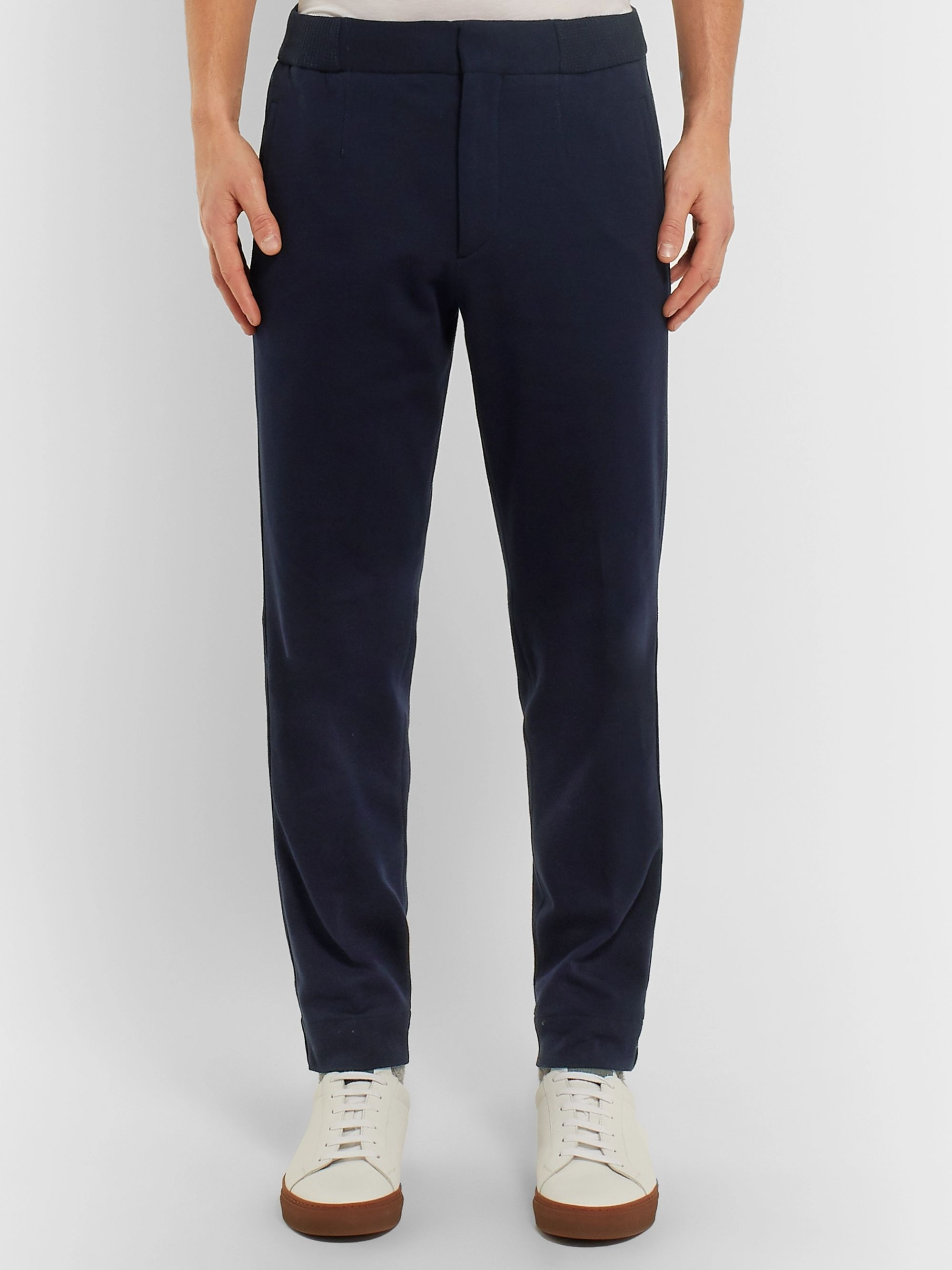 Ermenegildo Zegna Tapered Cotton and Silk-Blend Jersey Sweatpants