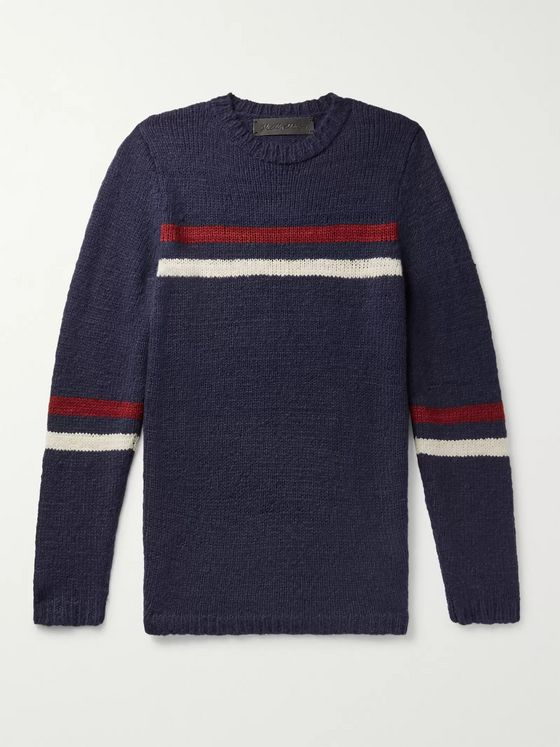 The Elder Statesman Slim-Fit Striped Cashmere Sweater