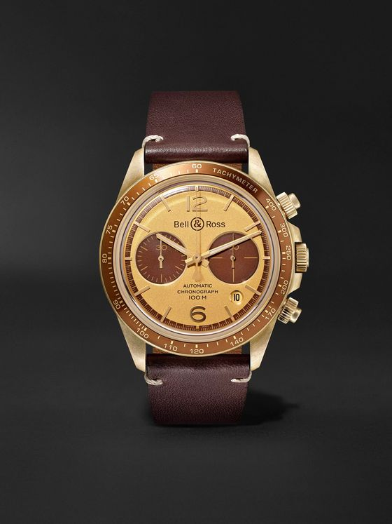 BELL & ROSS BR V2-94 Bellytanker 'El Mirage' The Rake x Revolution Limited Edition Automatic Chronograph 41mm Bronze and Leather Watch, Ref. No. BRV294-RR-BR/SCA