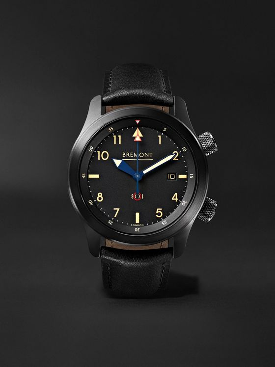 Bremont U-2/51-JET Automatic 43mm Stainless Steel and Leather Watch, Ref. U2-51-R-S