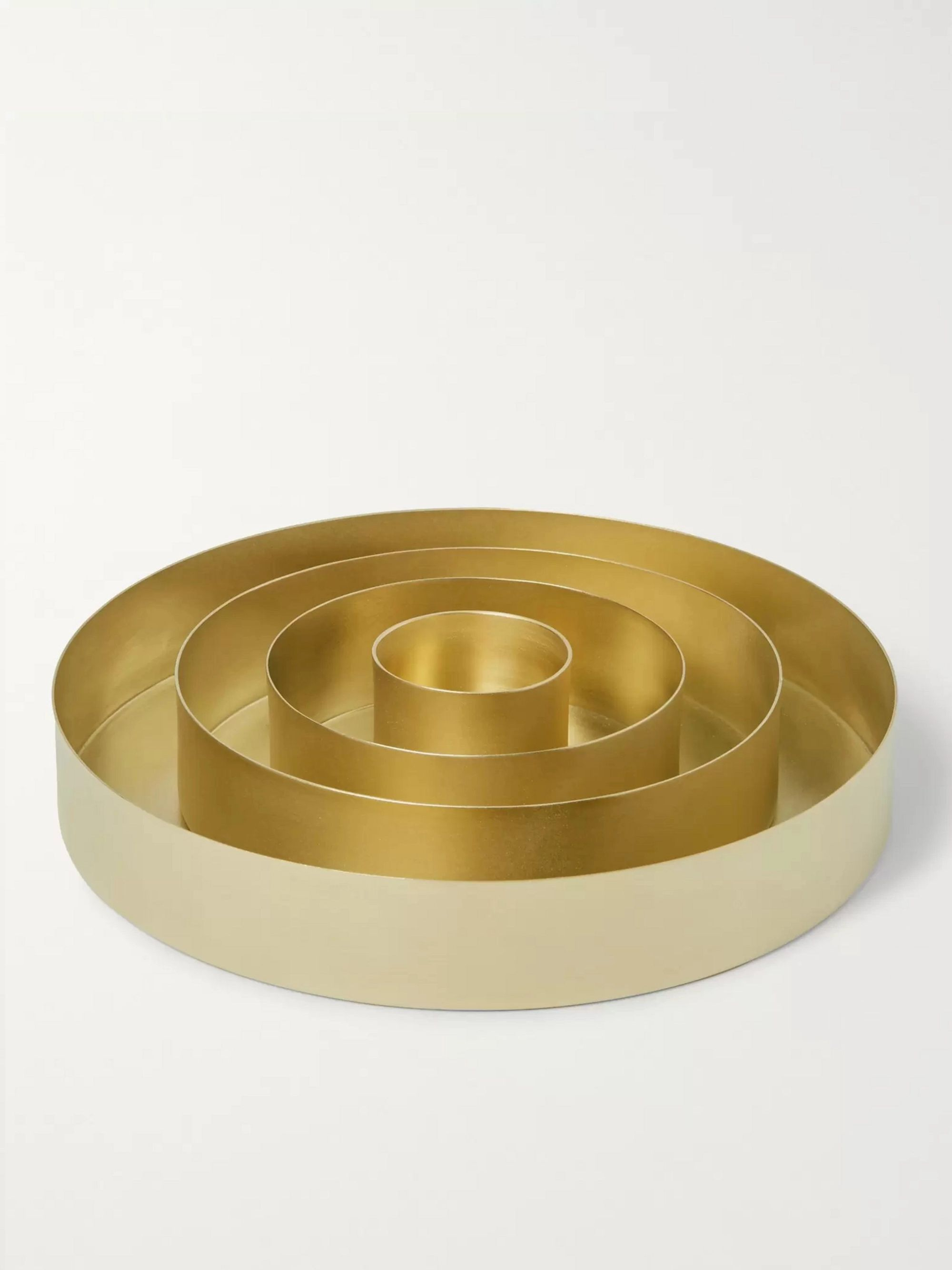 Tom Dixon Orbit Set of Four Brass Trays