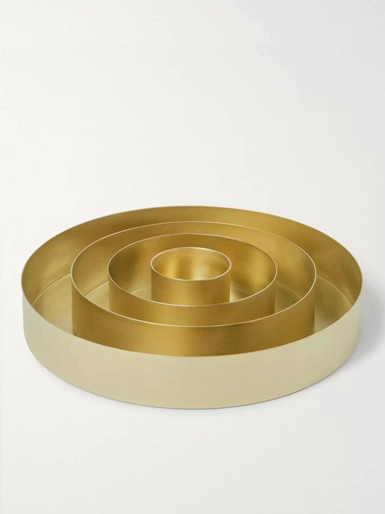 Tom Dixon Orbit Set of 4 Brass Trays