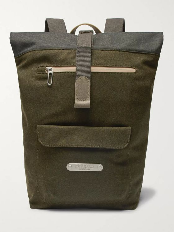 Brooks England Rivington Felt and Canvas Backpack