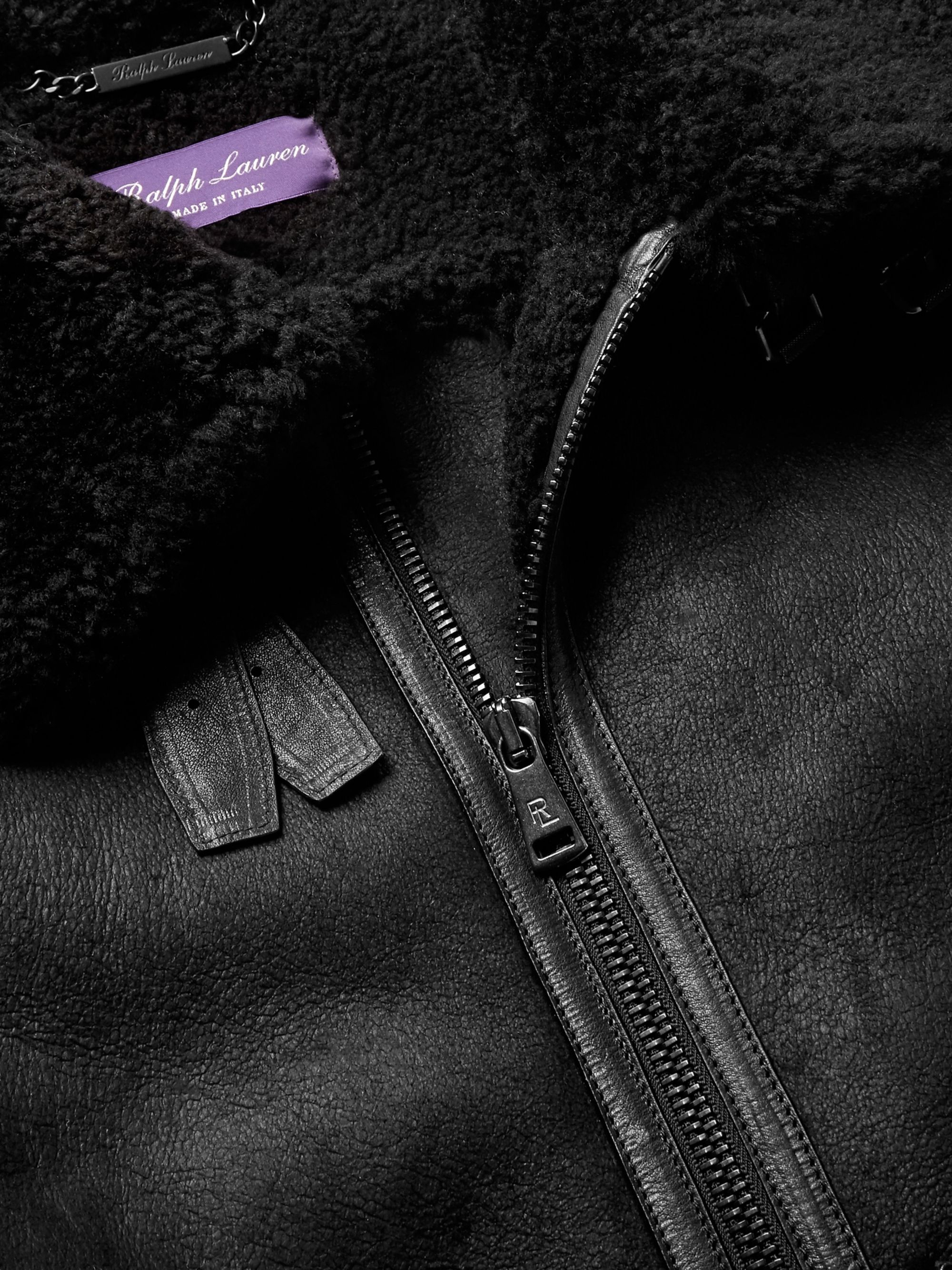 Ralph Lauren Purple Label Shearling Jacket