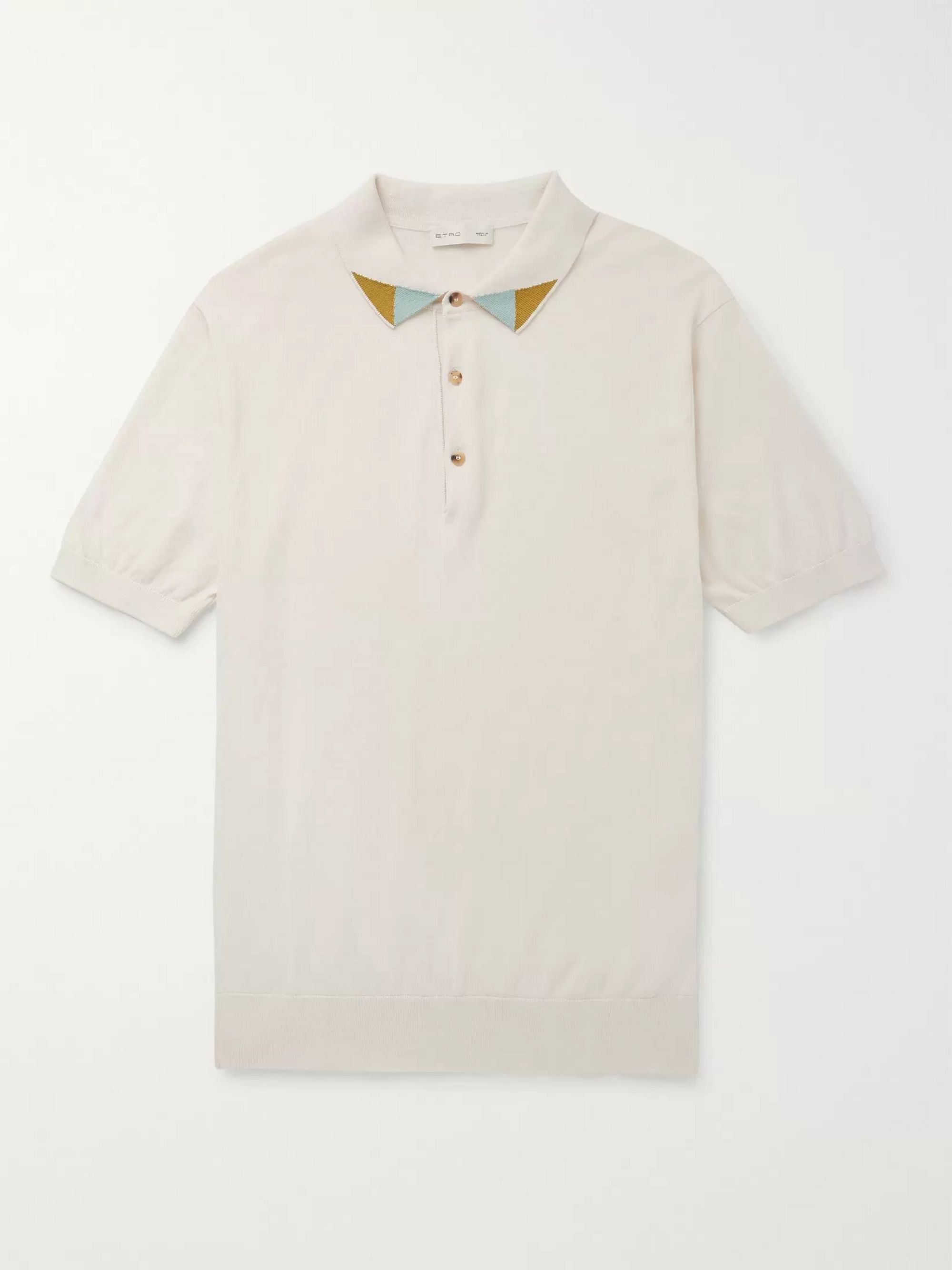 Etro Contrast-Trimmed Cotton Polo Shirt