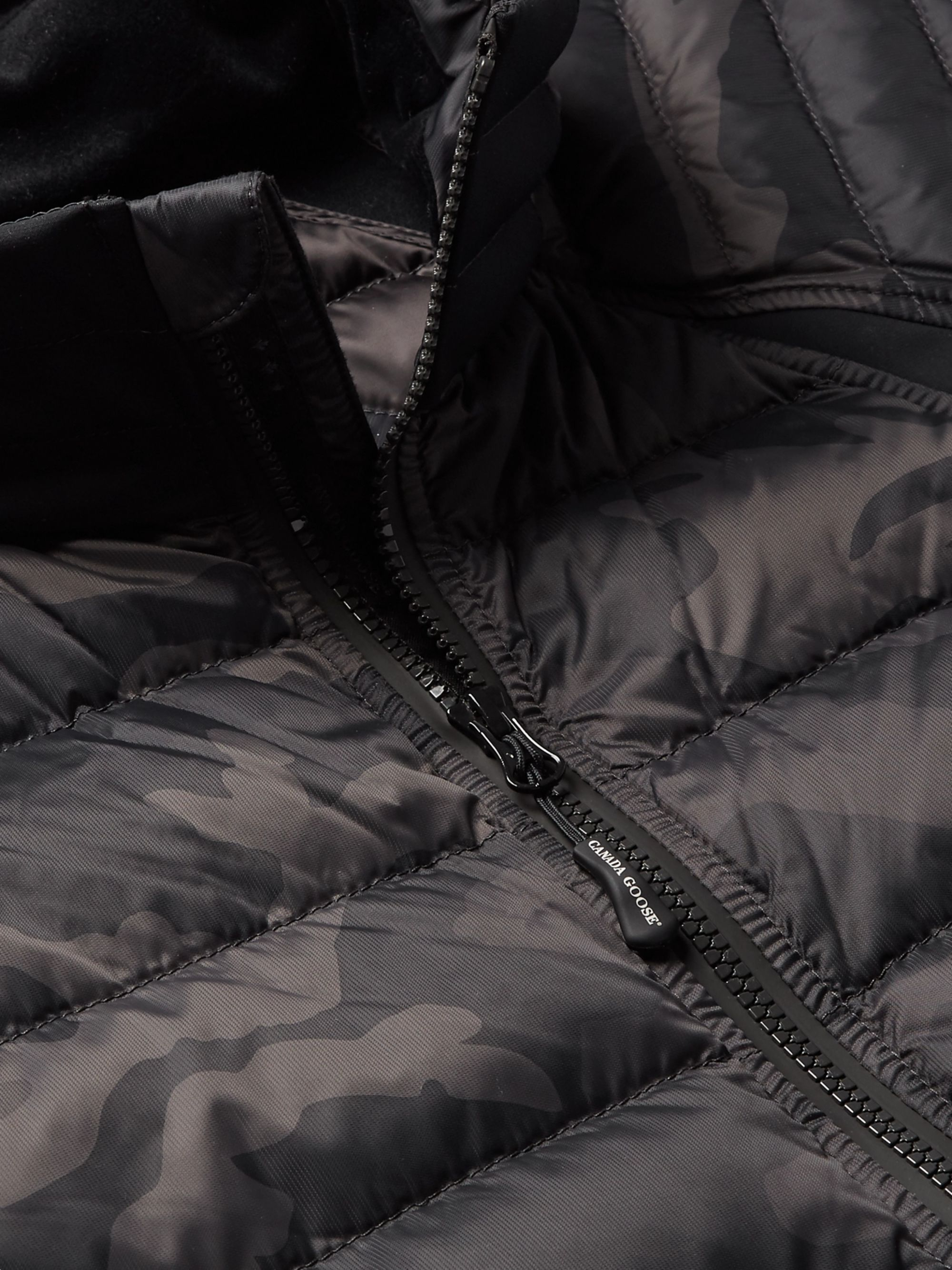 Canada Goose HyBridge Perren Camouflage-Print Quilted Nylon Down Jacket