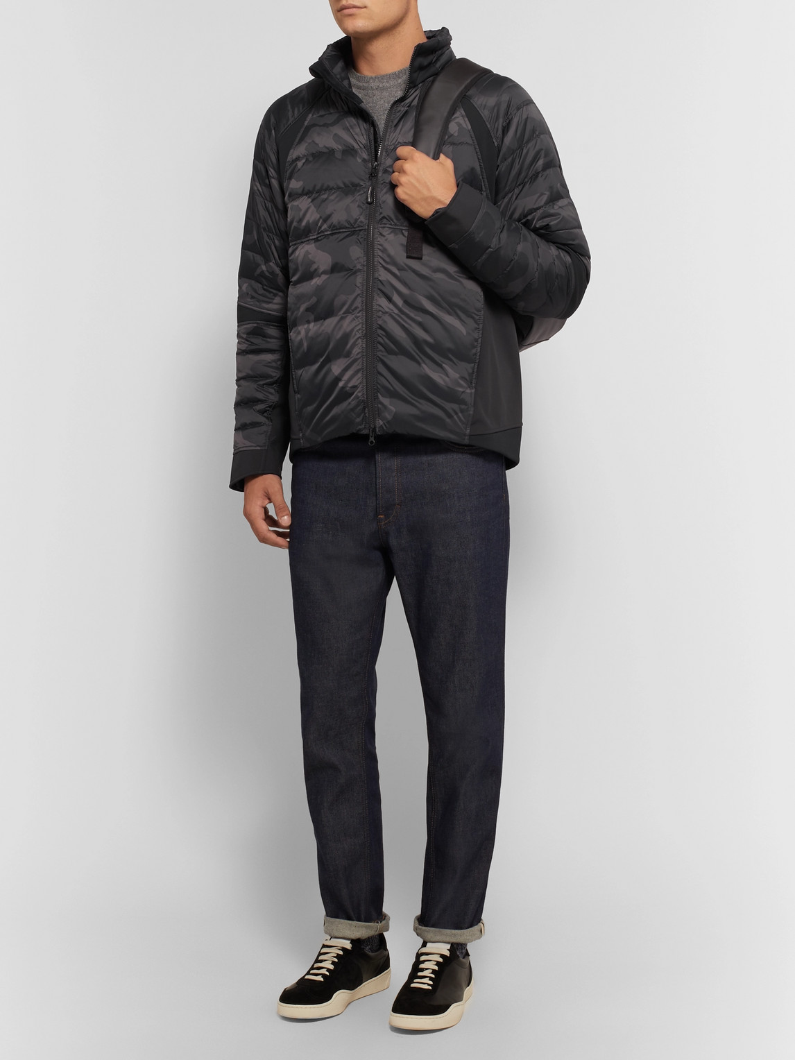 Canada Goose Jackets HYBRIDGE PERREN CAMOUFLAGE-PRINT QUILTED NYLON DOWN JACKET