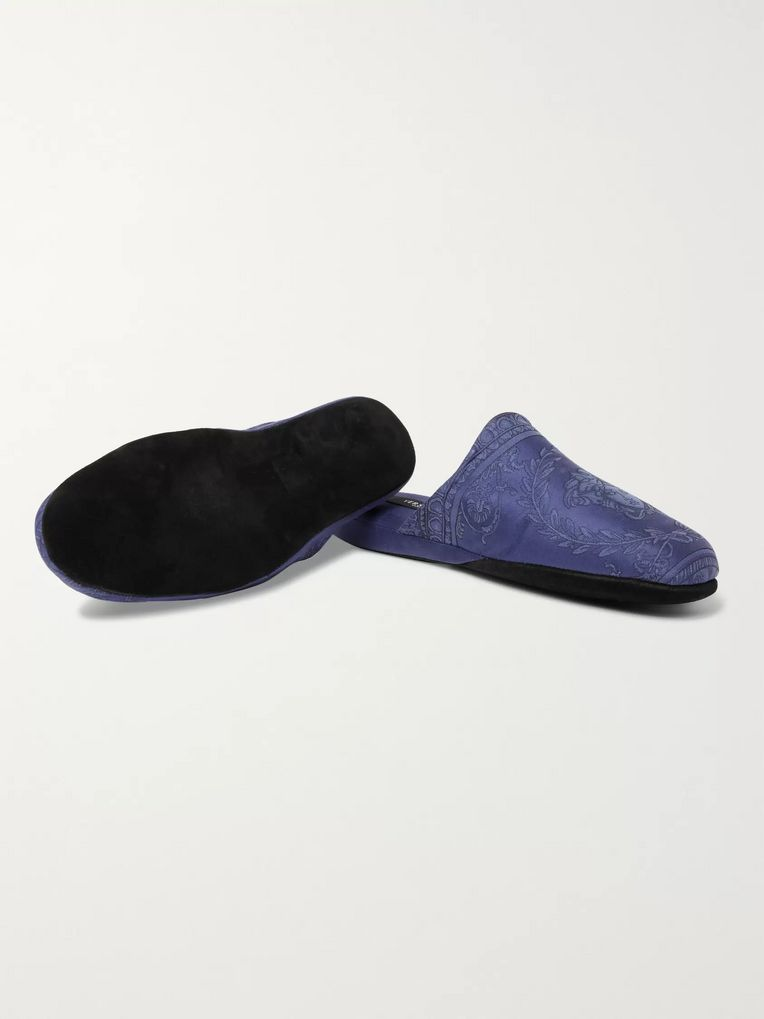 Versace Cotton-Jacquard Slippers