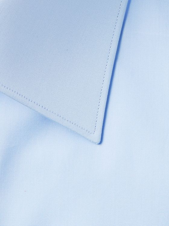 Brioni Light-Blue Cotton-Poplin Shirt