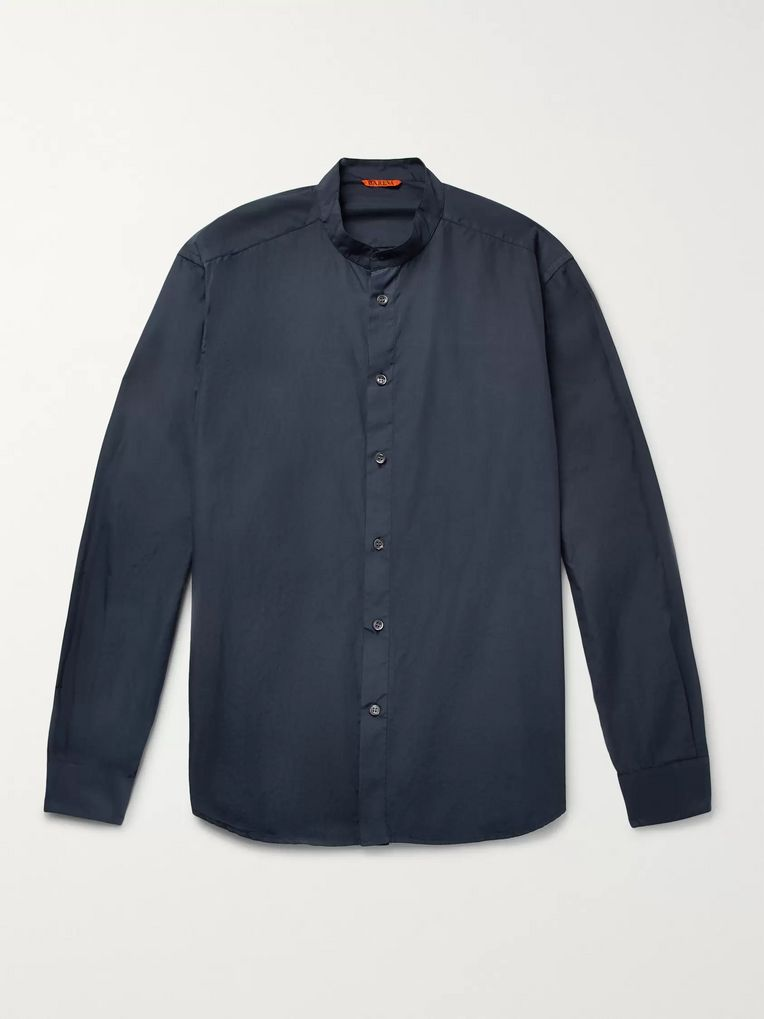 Barena Grandad-Collar Cotton-Poplin Shirt